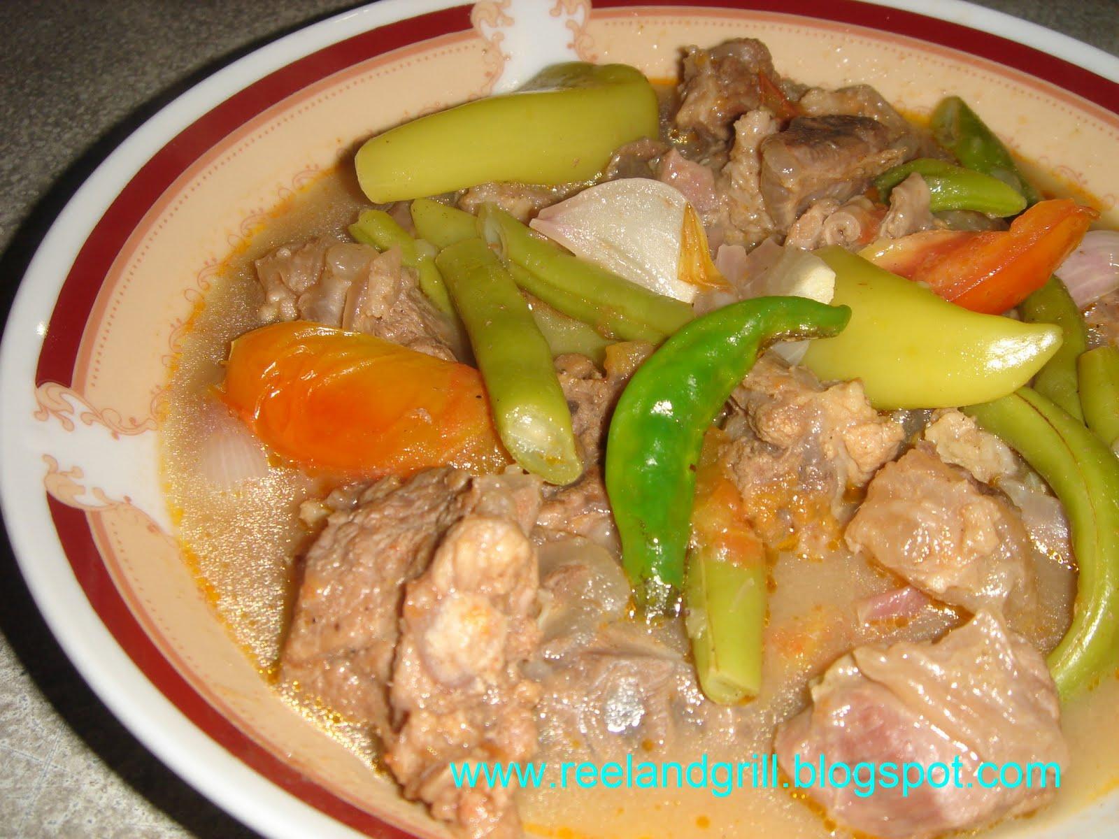 Reel and Grill: Sinigang na Baka (Beef Stew in Tamarind)