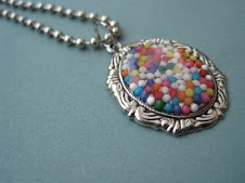 Candy sprinkles cameo necklace
