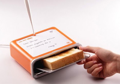 use screen, bake notes on toast !