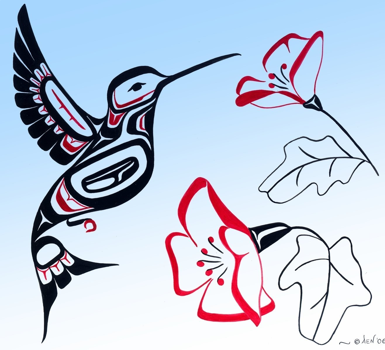 Line Art America : Living the native life sketches
