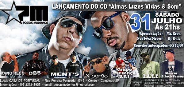 LANÇAMENTO DO CD ALMAS LUZES VIDAS & SOM