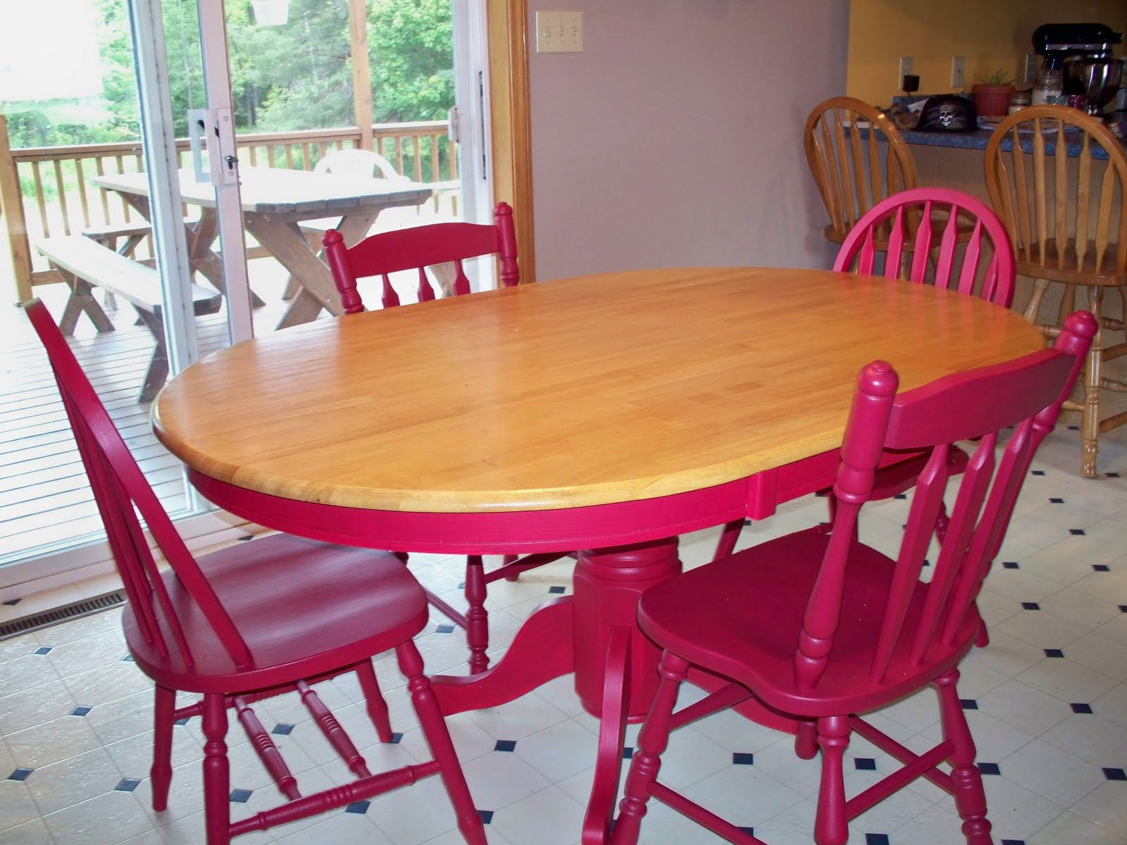 The domestic groove free kitchen table redo - Kitchen table redo ...