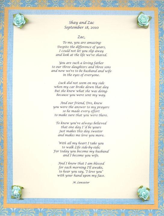 Wedding Display Shower Poem