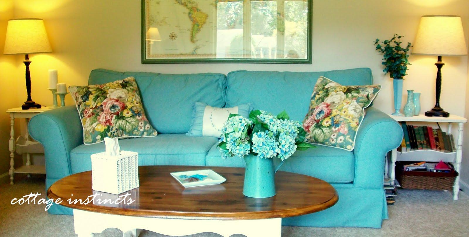 Cottage instincts living room redoer repurpose