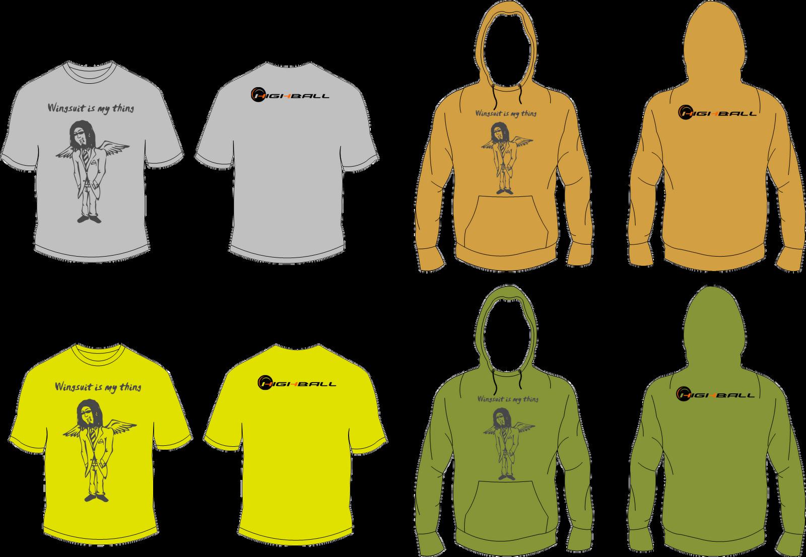Shirt hoodie design - Wingsuit Hoodie And T Shirt