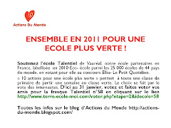 Flyers  distribuer pour faire voter Talentiel