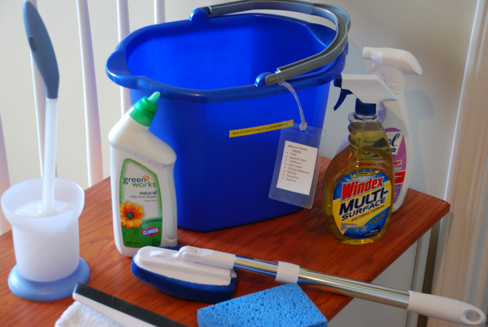 A quest for a balanced life bathroom cleaning organized for Bathroom cleaning supplies list