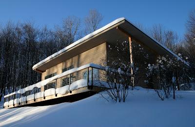 Modern Cabin Snow