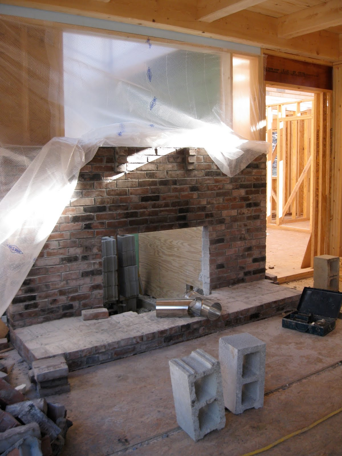 New Vermont Farmhouse Rebuilding Firebox