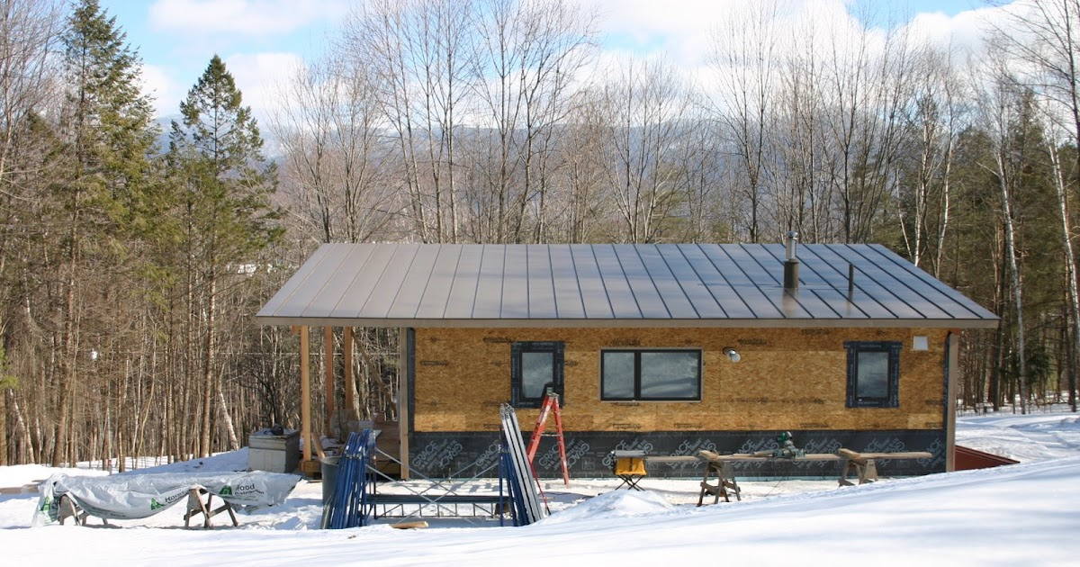 modern cabin standing seam metal roof