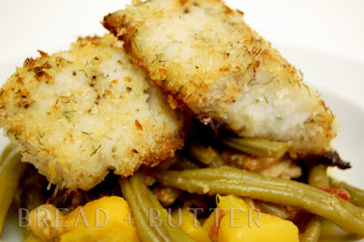 Baked Panko-Dill Crusted Cod