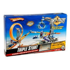 Cheap Toy Cars - Hot Wheels Trick Tracks Triple Stunt Starter Set