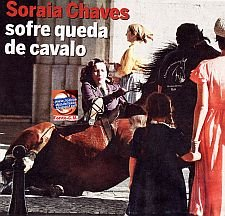 "SORAIA CHAVES CAI DO CAVALO DURANTE AS GRAVAES DE ""A VIDA PRIVADA DE SALAZAR"""