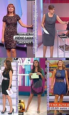 OS VESTIDOS DAS APRESENTADORAS TV - 28/9/2009
