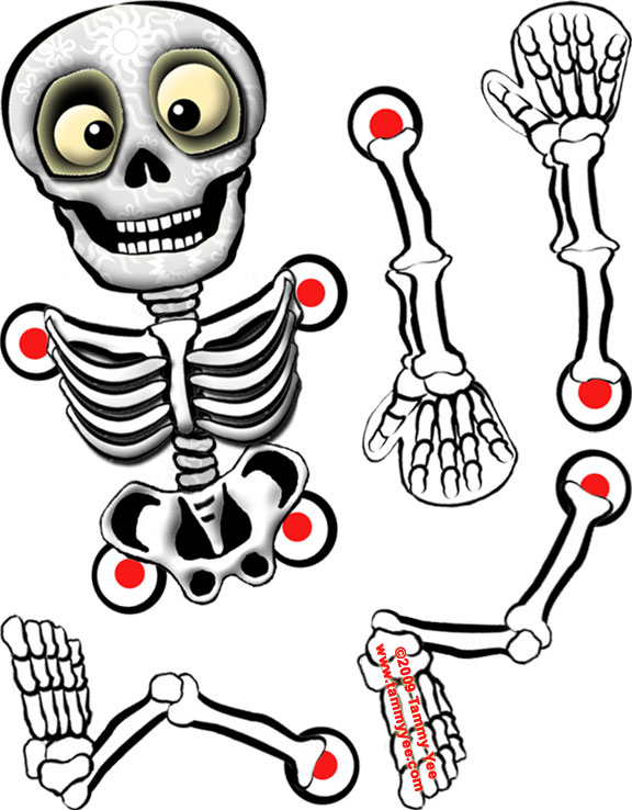 Как сделать скелет на хэллоуин