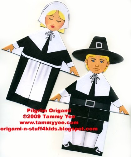 Origami n Stuff 4 Kids Thanksgiving Pilgrim Boy and