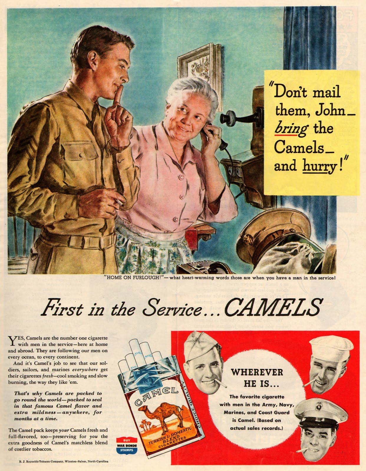 LIST OF CAMEL CIGARETTES