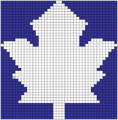 Maple Leaf Knitting Pattern : Maple Leaf Chart Free Knitting Pattern from the Charts Free Knitting Patterns...
