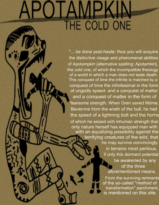 The Cold One: Apotamkin