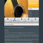 Music CSS Template