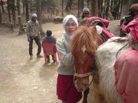 bersama kuda tsyg....si brown....his nice horse....