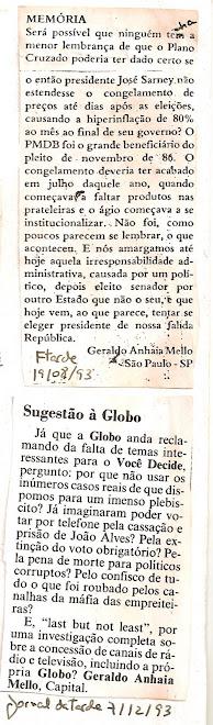 Jornal da tarde.