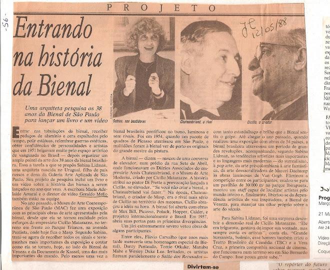 Entrando na história da Bienal