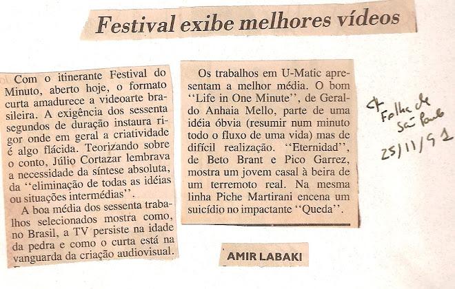 Festival exibe melhores vídeos