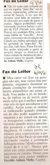 Fax do leitor