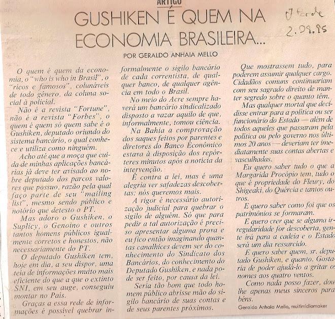 Gushiken é quem na economia brasileira...