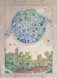 Obra de Juan Romero Serigrafía titulado: Pandereta