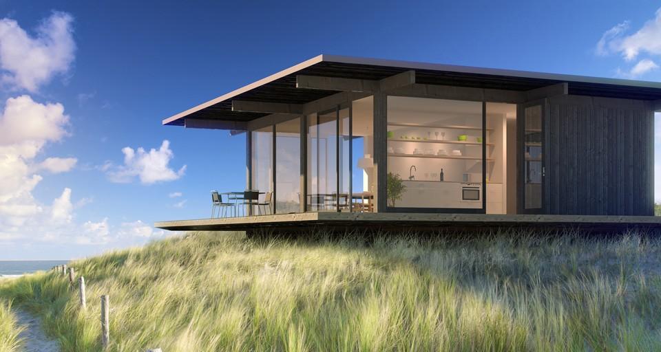 La madera en la arquitectura casas de madera minimalistas for Casas prefabricadas minimalistas