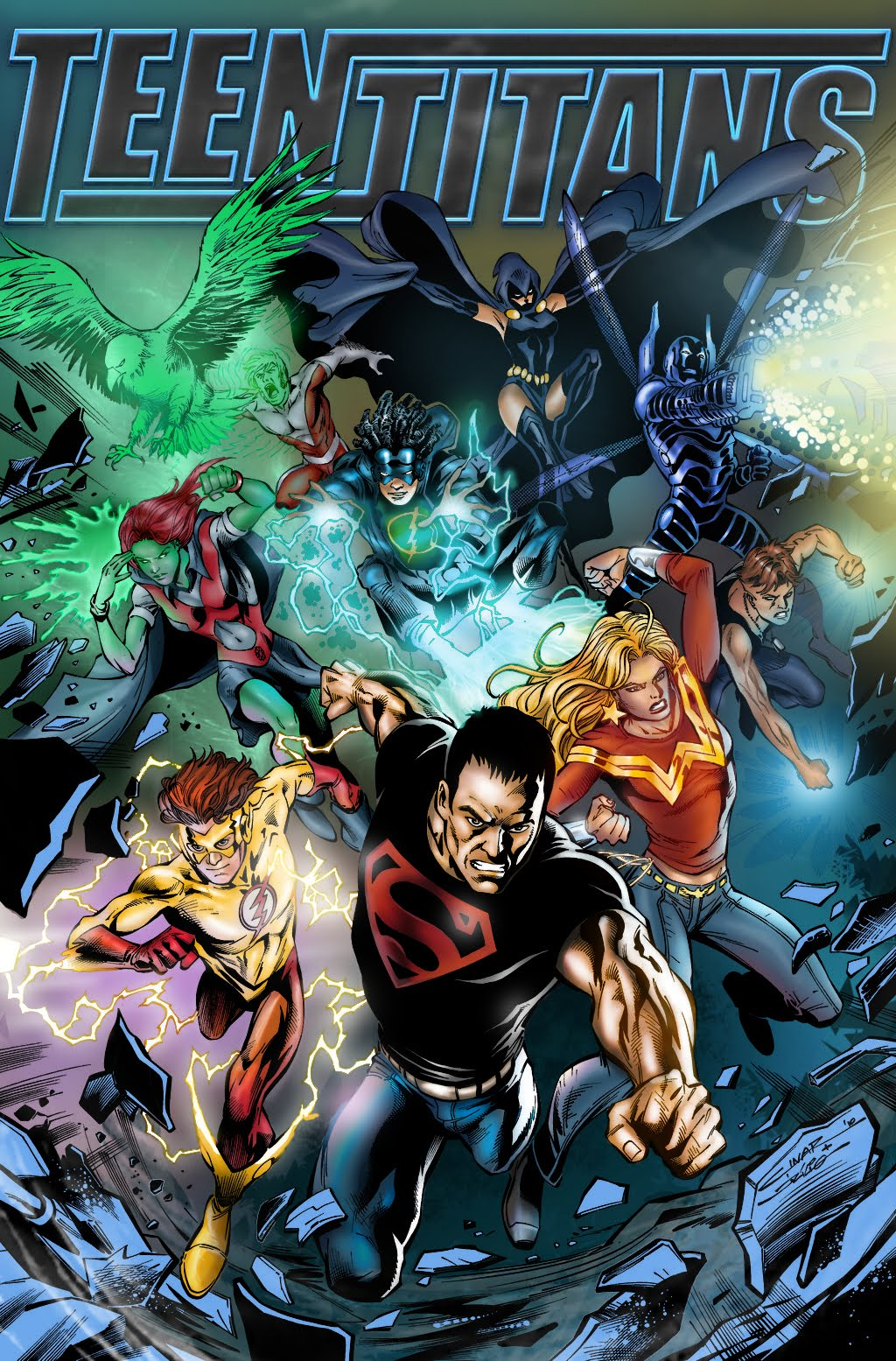 Teen Titans Cover Col Smek Teen Titans 56 Wallpaper