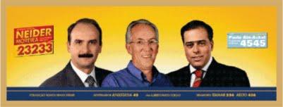 Neider Moreira, Toninho Sampaio e Paulo Abi Ackel