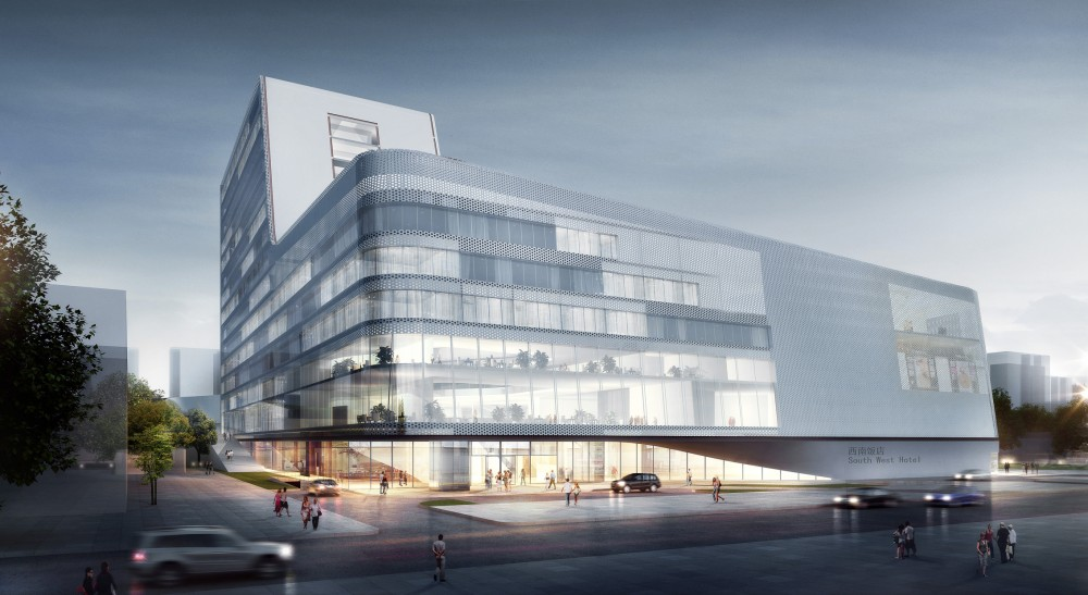 South west hotel competition proposal henn architects for New hotel design