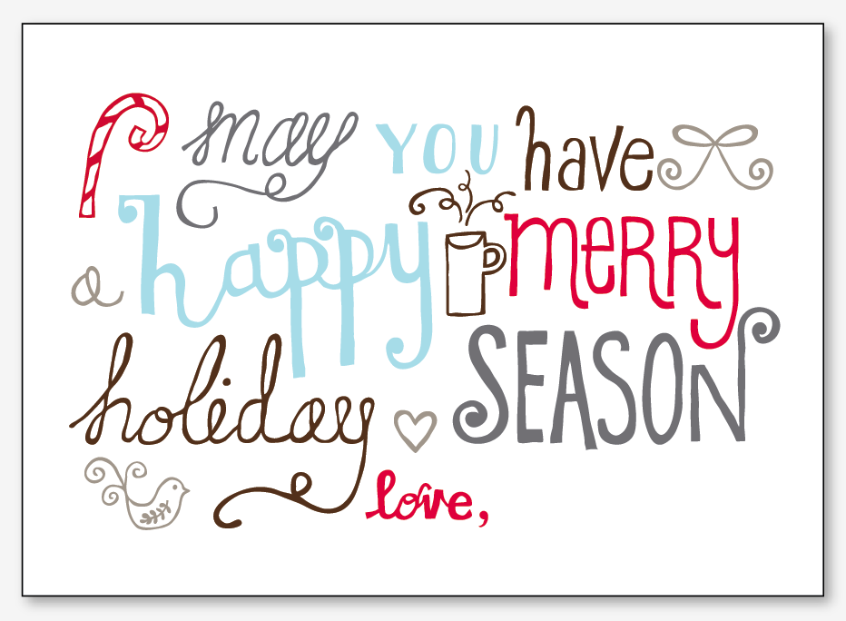 Unforgettable image within printable holiday cards