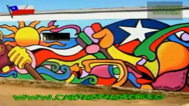 Cartagena cartagena de chile mural b r p estrella roja for Mural metro u de chile