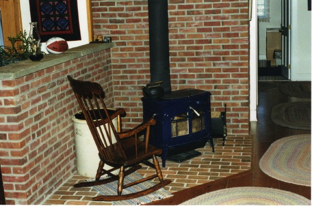 Masonry Nook for Woodstove