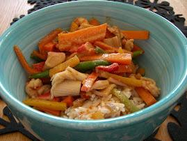 Recept på thaiwok med räkor