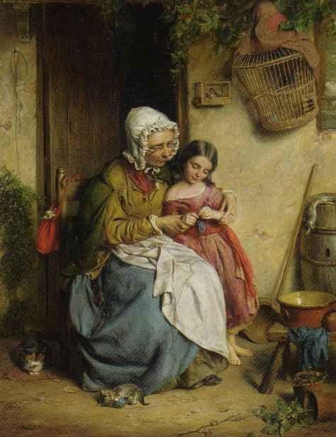 Knitting Oils : British paintings john thomas peele