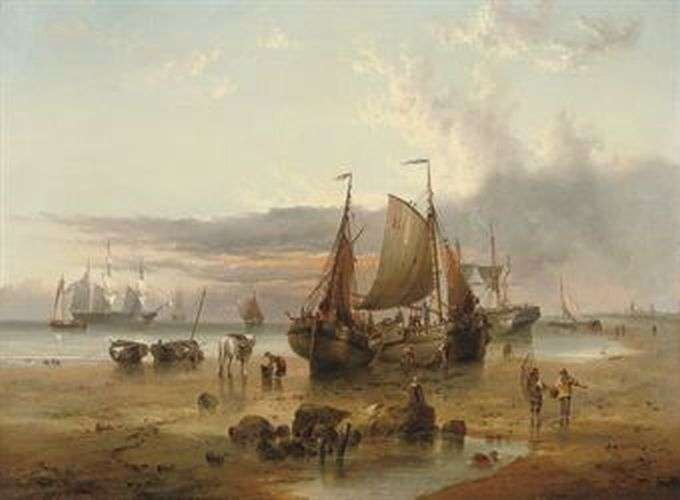 Lower Boddington United Kingdom  City new picture : British Paintings: Henry Redmore On the Dutch coast off Texel Island