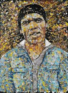 "Pic: ""self portrait (2008) - melted plastic on plastic)"