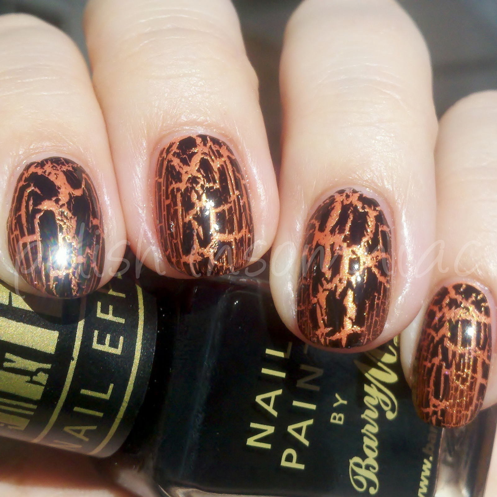 FingerPaints+Dahlia+My+Number+%252B+Black+Crackles+%25281600x1600%2529 Marble effect on the nails
