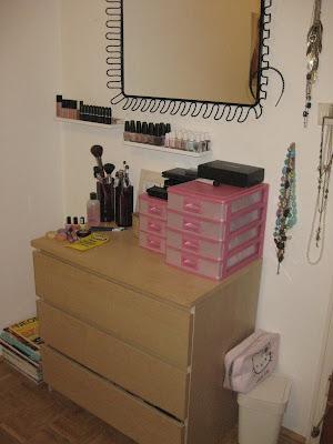 Beautyaddicted meine make up aufbewahrung - Schminktisch tumblr ...