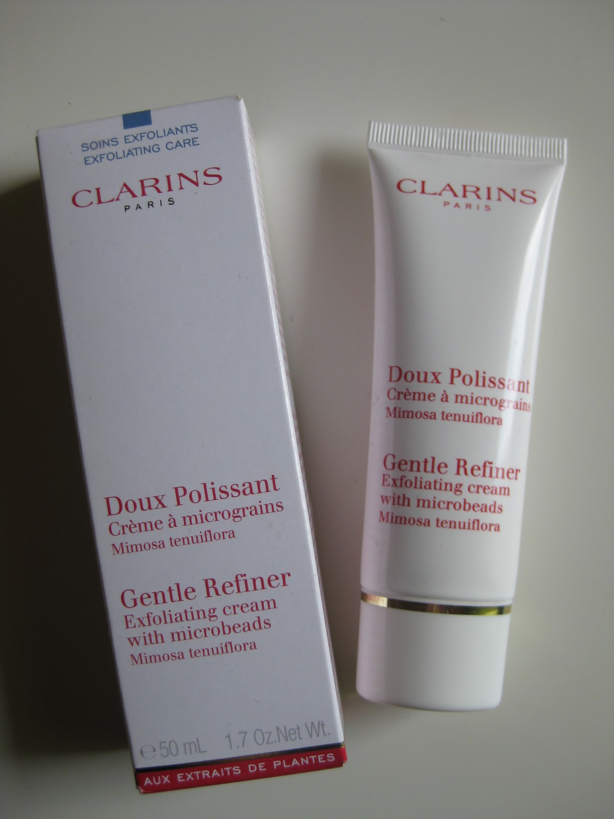 how to use clarins gentle exfoliating refiner