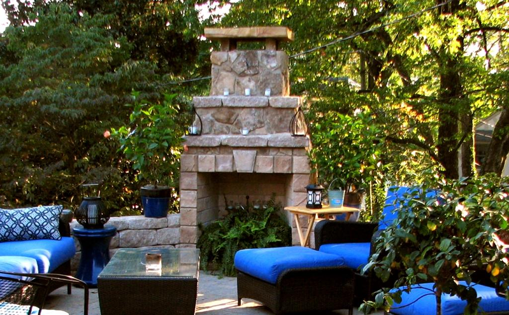 Backyard Living Source :  Landscapes Extend your Outdoor Living Season  Add a Source of Heat
