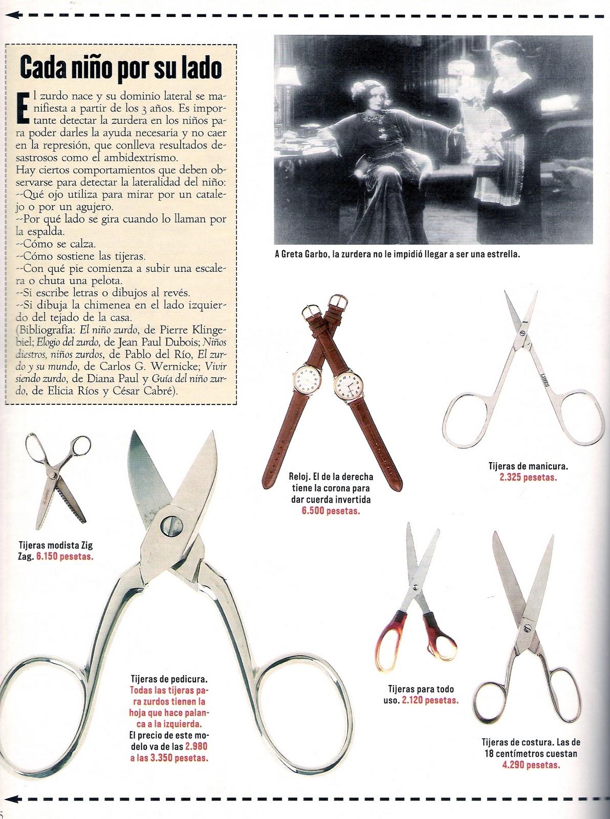 El bazar utensilios para zurdos for Utensilios de cocina para zurdos
