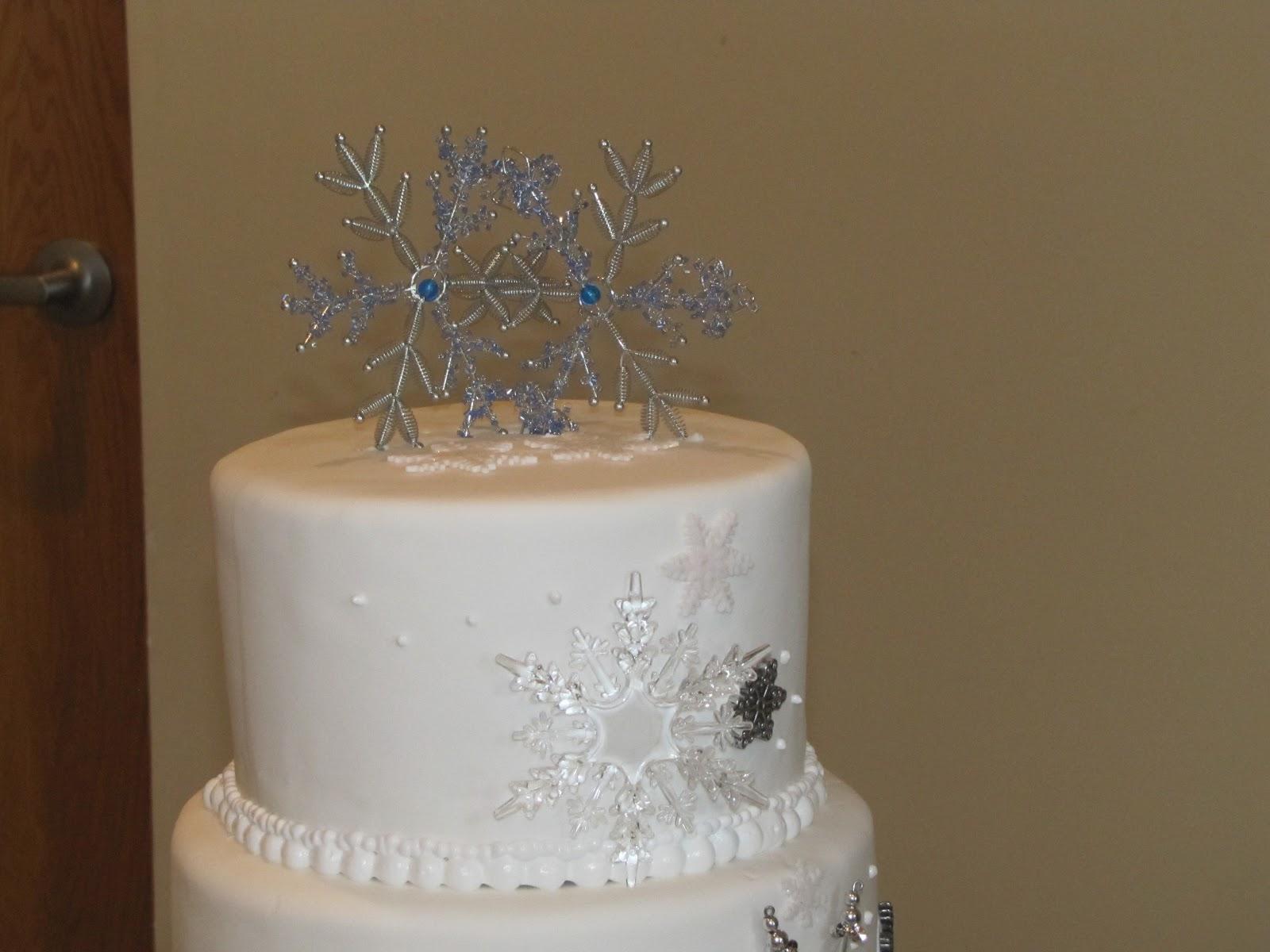 TJ Happy Cakes: Snowflake Wedding Cake