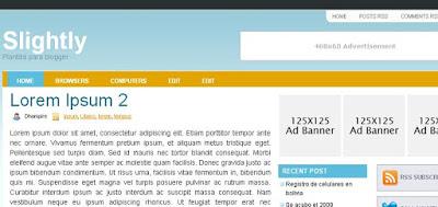 Slightly nueva plantilla blogger 3