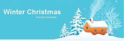 Winter Christmas plantilla Blogger navideña 3